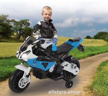 Jamara Kinder-Motorrad Ride On BMW S1000RR Motorbike mit E-Motor blau
