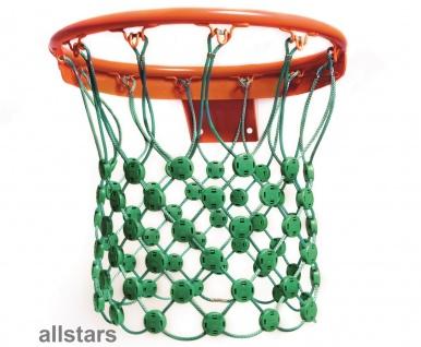 Huck Basketballnetz grün Korbnetz Netz Herkulesseil mit Klemmschellen Basketballkorb