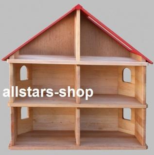 Schöllner Puppenhaus Spielhaus Kinderspielhaus Puppenstube 2 Etagen mit Dach für Kindergarten - Vorschau 5