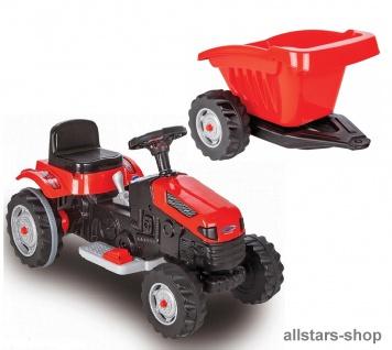 Jamara Kindertraktor Ride On Traktor mit Elektromotor Trecker mit Hänger Elektro-Tractor rot