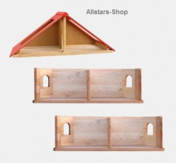 Schöllner Puppenhaus Spielhaus Kinderspielhaus Puppenstube 2 Etagen mit Dach für Kindergarten - Vorschau 4