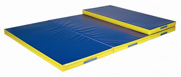 Bänfer Weichmattenauflage 3-teilig klappbar 6 x 2 m Matte Weichboden Auflage