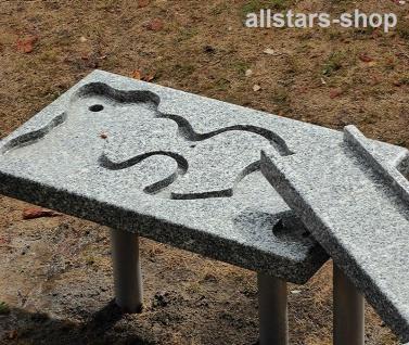Granit-Matschtisch Fantasy 1 Stück für Matschanlage Wasserspiele Wasserspielanlage Wasseranlage