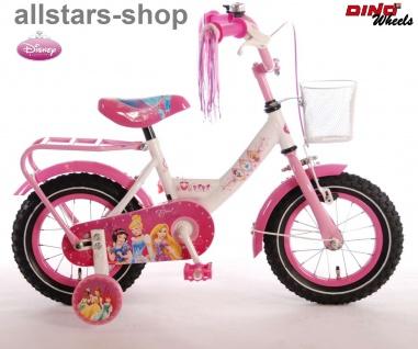 """Allstars Dino Wheels Bikes Kinderfahrrad 12 """" Mädchen Fahrrad pink mit Rücktrittbremse"""