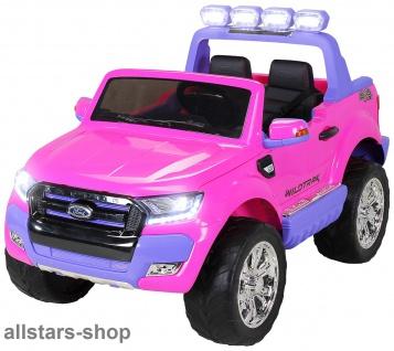 Actionbikes Kinderauto Ford Ranger Kinder-E-Auto 2-Sitzer 2 Kinder pink