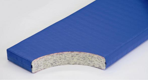 Bänfer Schulturnmatte RG 80 2 x 1 m Turnmatte 50 mm blau Sportmatte - Vorschau 2
