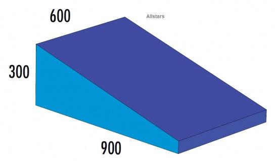 Bänfer Softbaustein Keil blau 600 x 900 x 300/60 Maxi Schaumstoff-Baustein Großbaustein