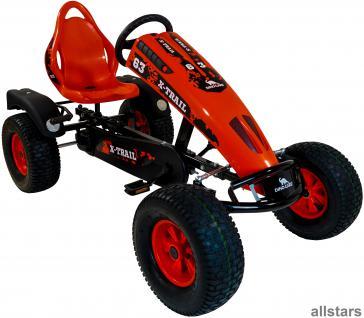 DinoCars Dino Cars Kettcar GoCart GoKart X-Trail BF1 schwarz rot Tretauto
