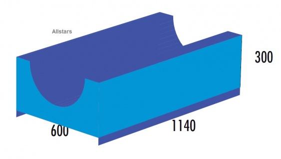 Bänfer Softbaustein Rutsche f. Keil 1140 mm Maxi Schaumstoff-Baustein Großbaustein
