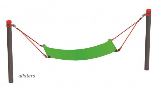 Huck Seil-Parcours Element Hängematte Polyester Huck