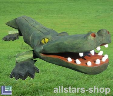 Balancierbalken Krokodil - Kroko - Balanciertier Maxi Schwebe-Balken aus Robinie Länge ca. 4, 0 m