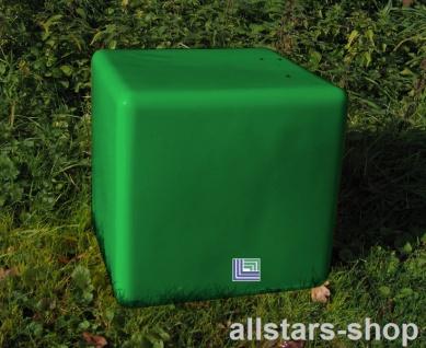Beckmann Sitzelement Hocker Sitzgelegenheit Design-Würfel Ø = 55 cm grün mit Bodenanker