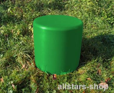 Beckmann Sitzelement Hocker rund Sitzgelegenheit Design-Zylinder Ø = 45 cm grün H = 45 cm mit Bodenanker