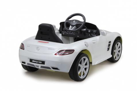 Jamara Ride on Car Mercedes SLS AMG weiß Kinderauto mit E-Motor zum Selbstfahren Elektroauto mit RC-Fernbedienung - Vorschau 3