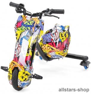 Actionbikes Elektro-Roller Drift-Scooter E-Scooter Gokart E-Dreirad graphit