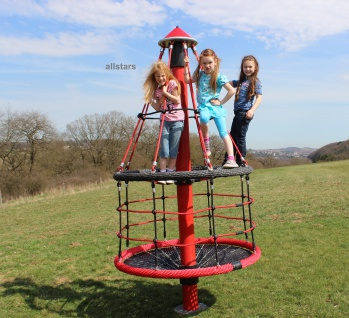 Hally-Gally Mini-Turmkreisel Karussell Kletterpyramide Drehturm Spielplatzgeräte