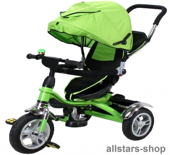 Actionbikes Kinderwagen Kinderkarre Kinder-Karre Kinder-Buggy Kinder-Dreirad grün