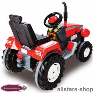 Jamara Kinder-Auto Ride On Traktor mit Elektromotor Trecker Elektro-Tractor rot - Vorschau 5