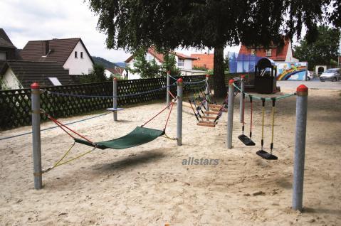 Huck Adventure-Parcours Dillenburg Gummigurt-Matte Hängematte Spielplatz - Vorschau 3