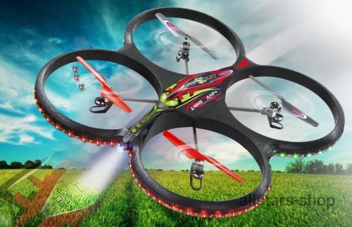 Jamara Flyscout AHP+ Quadrocopter Drohne Kompass LED-Kamera
