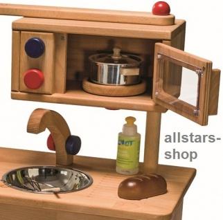 Allstars Spielküche Kinderküche Pantryküche aus Massivholz mit Spülbecken und Mikrowelle - Vorschau 2