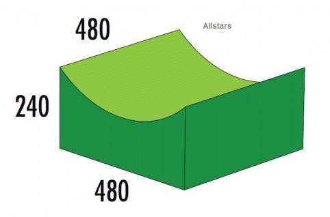Bänfer Softbaustein Tal 480 x 480 mm Medi Schaumstoff-Bausteine Großbaustein