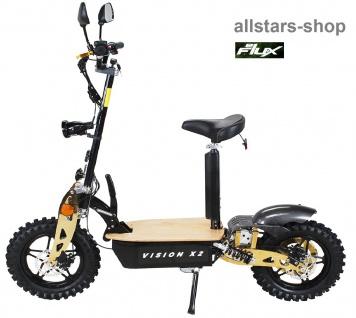 Actionbikes Elektroroller eFlux Vision X2 STVZO E-Roller 45 km/h mit Sattel schwarz