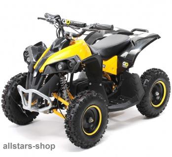 Actionbikes Kinderauto Elektro-Quad Reneblade 1000 W Pocketquad schwarz-gelb Miweba