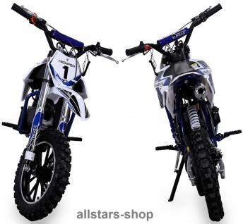 Actionbikes Kindermotorrad Kinder-Crossbike Poketbike Gazelle 49 cc Benzin-Motor blau - Vorschau 3