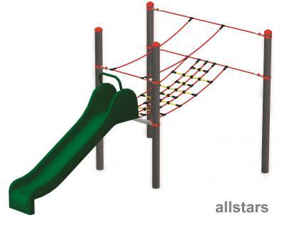 Huck Vario-Systen Element 10 Rutsche Parcours f. Stahlpfosten Spielplatzanlage