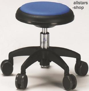 Allstars Rollhocker Star blau Drehstuhl für Kinder ohne Lehne small
