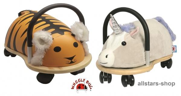 Wheely Bug Rutscher Einhorn Lyria und Tiger Shir Khan Kleinkindrutscher klein 360 Grad rundum allstars