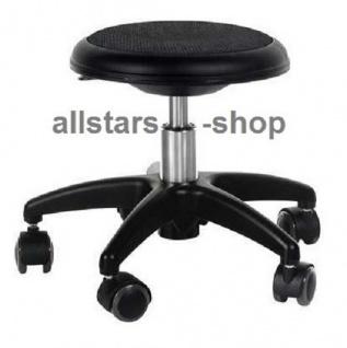 Allstars Rollhocker Star schwarz Drehstuhl für Kinder ohne Lehne small