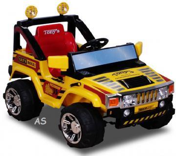 allstars Hummer A30 Jeep gelb Kinderauto Elektrokinderauto Geländewagen - Vorschau 1