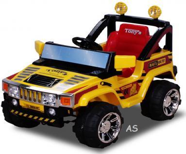 allstars Hummer A30 Jeep gelb Kinderauto Elektrokinderauto Geländewagen - Vorschau 2