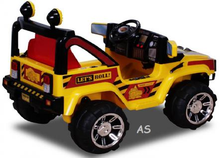 allstars Hummer A30 Jeep gelb Kinderauto Elektrokinderauto Geländewagen - Vorschau 3