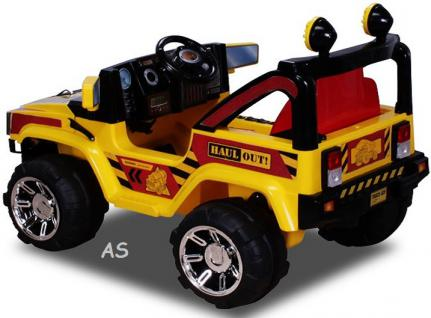 allstars Hummer A30 Jeep gelb Kinderauto Elektrokinderauto Geländewagen - Vorschau 4