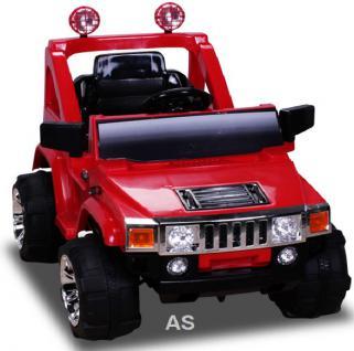 Kinderauto Elektroauto Elektrokinderauto E-Kinderauto Hummer A30 Jeep rot Elektro Geländewagen allstars
