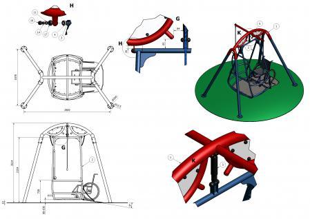 Beckmann Rollstuhlfahrerschaukel Behindertenschaukel Rollstuhlfahrer Schaukel einbetonieren - Vorschau 4