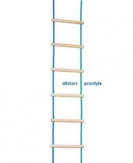 Ullmann Sprossenleiter Strickleiter 1, 8 m Holzsprossen