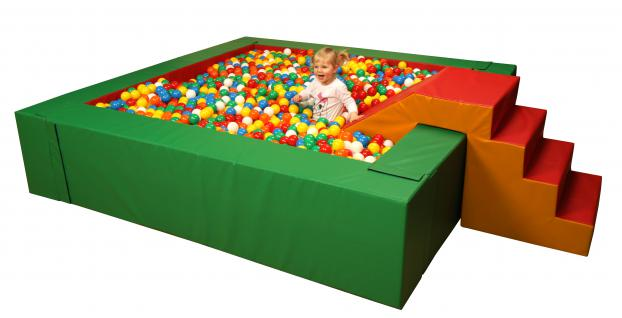 Bänfer Pool Bällebad Bällepool Viereckballbad Ballbad Softbausteine Maxi