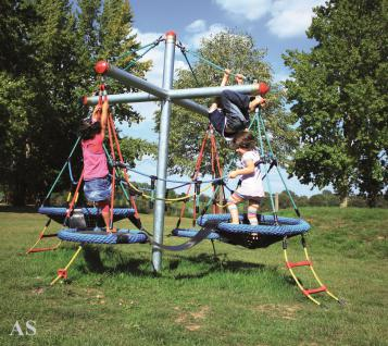 Huck Kletterpyramide Vogelnestbaum Mini mit 4 Vogelnest-Körbe Netzpyramide