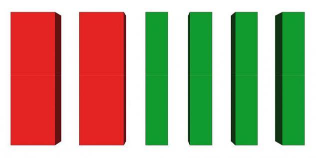 Bänfer Bausteinsatz 6-tlg. Softbausteine MINI Bausteine Großbausteine Schaumstoff - Vorschau 2