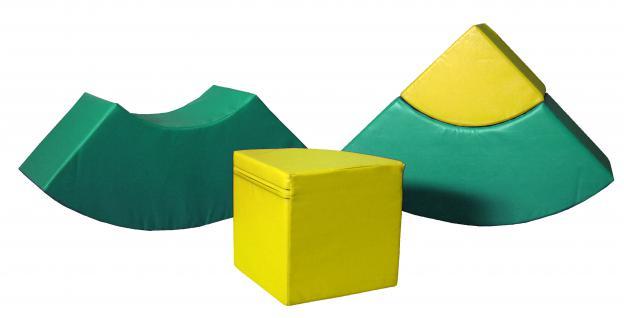 Bänfer Bausteinsatz 4-tlg. Softbausteine MAXI Bausteine Großbausteine Schaumstoff