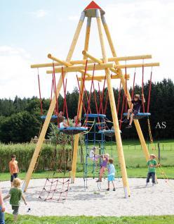 Huck Vogelnestturm Maxi Holz-Kletterpyramide
