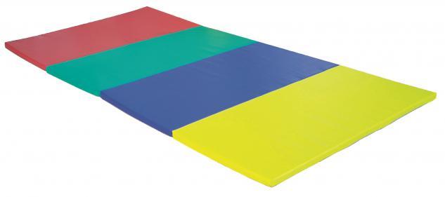 Turnmatte Matten Faltmatte 2, 4 x 1, 2 m bunt Schaumstoffmatte Spielmatte Bänfer