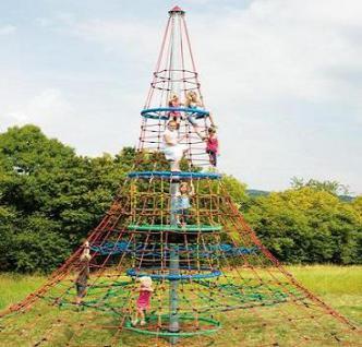 Huck Seilnetz-Pyramide Dino XXL Kletterpyramide