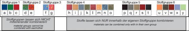Bänfer Eckcouch MINI Sofa 3 teilig links länger Couch Farbwahl Polyester - Vorschau 5