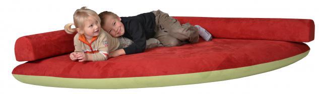 Bänfer Kindermöbel Kuschelmatratze Viertel Matratze Spielecke Lehne Motivdruck