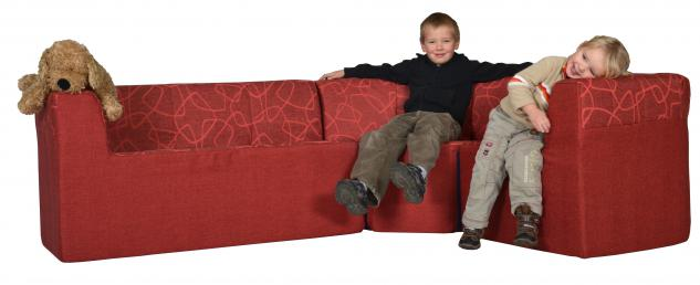 Bänfer Eckcouch MINI Sofa 3 teilig links länger Couch Farbwahl Motivdruck - Vorschau 2